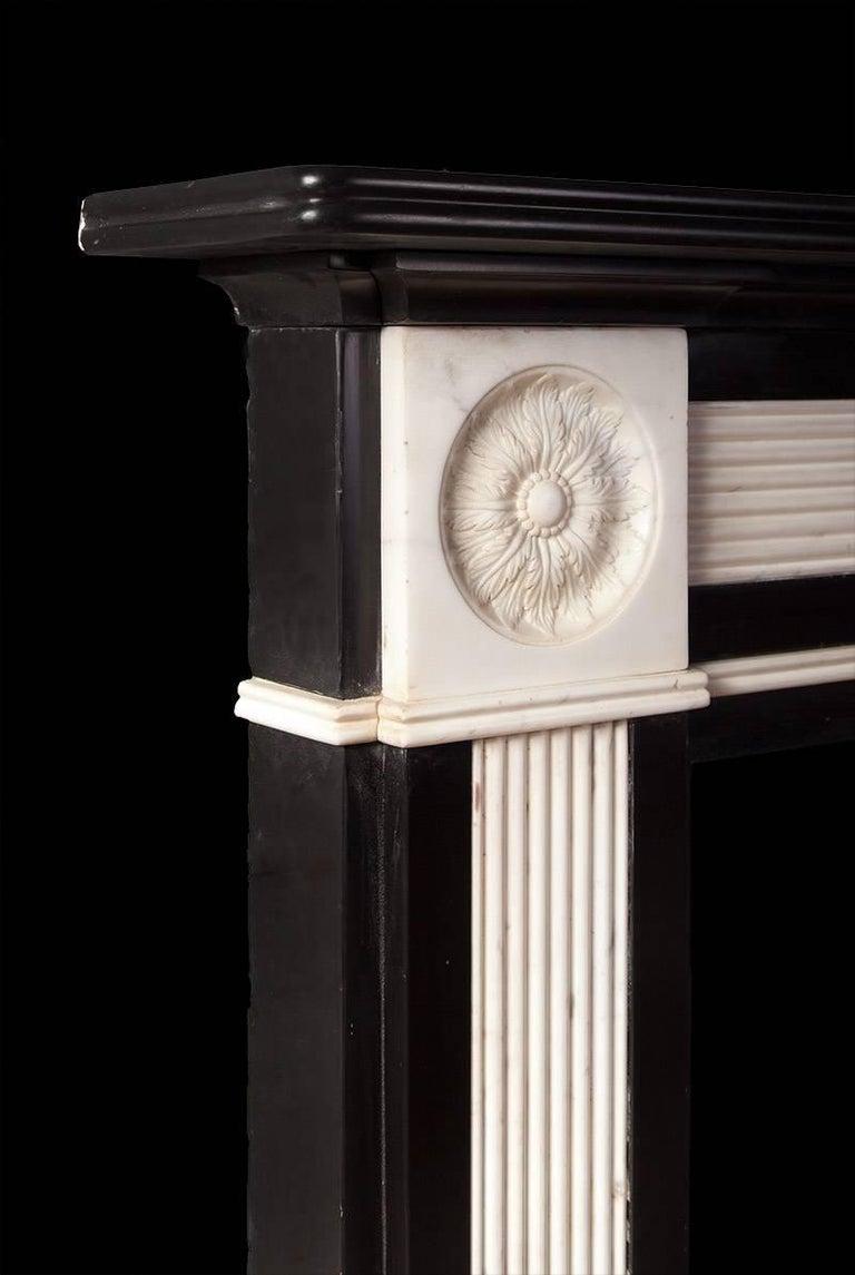 Carved Regency Marble Mantel For Sale