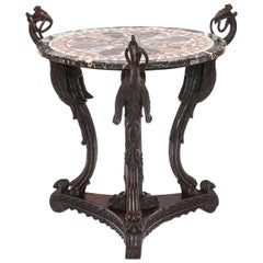 19th Century Specimen Marble Table