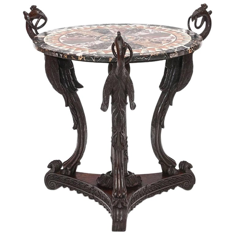 19th Century Specimen Marble Table For Sale