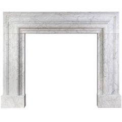 Carrara Marble Bolection Mantel