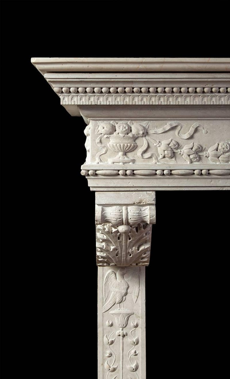 Italian Renaissance Stone Mantelpiece 2