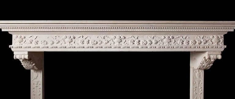 Italian Renaissance Stone Mantelpiece 4