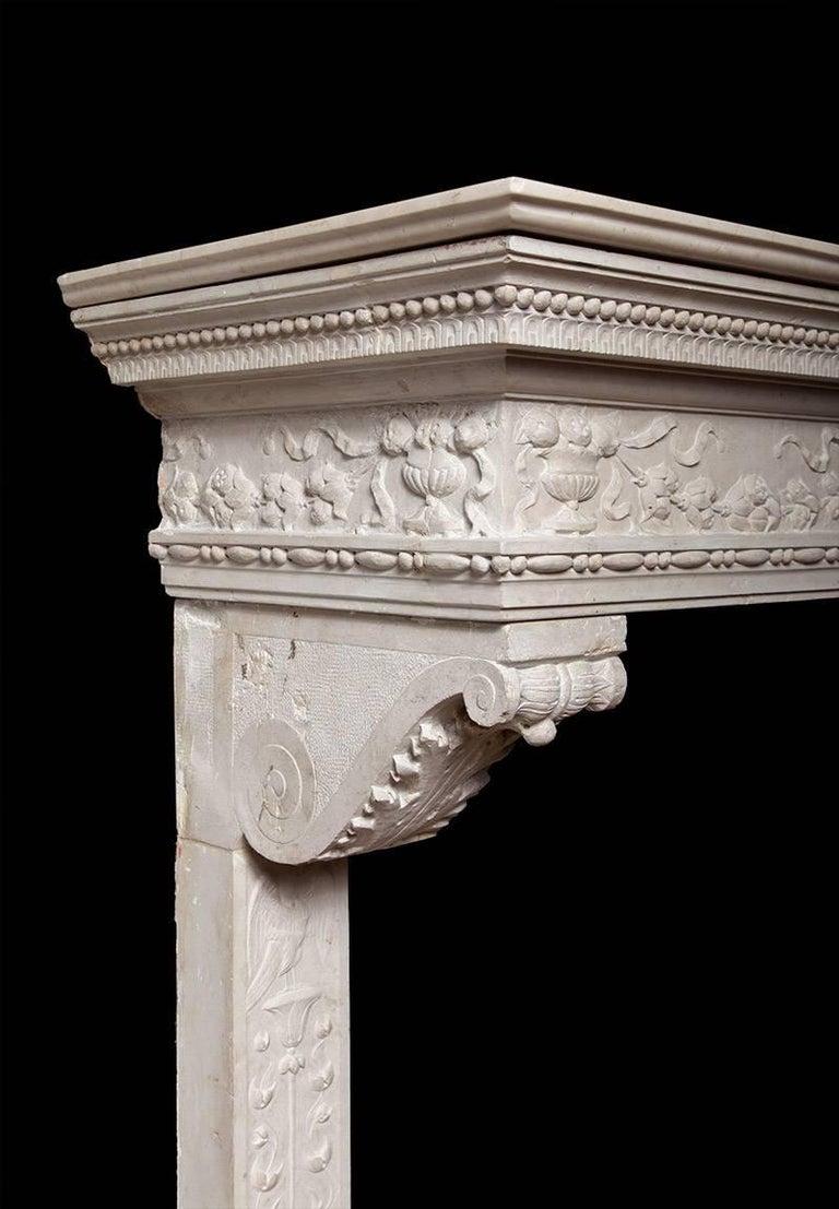 Italian Renaissance Stone Mantelpiece 5