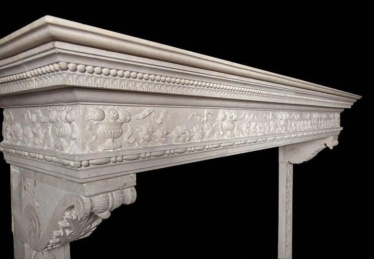 Italian Renaissance Stone Mantelpiece 6