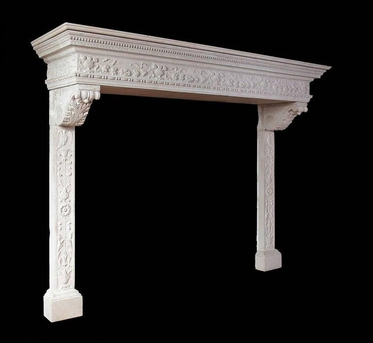 Italian Renaissance Stone Mantelpiece 7