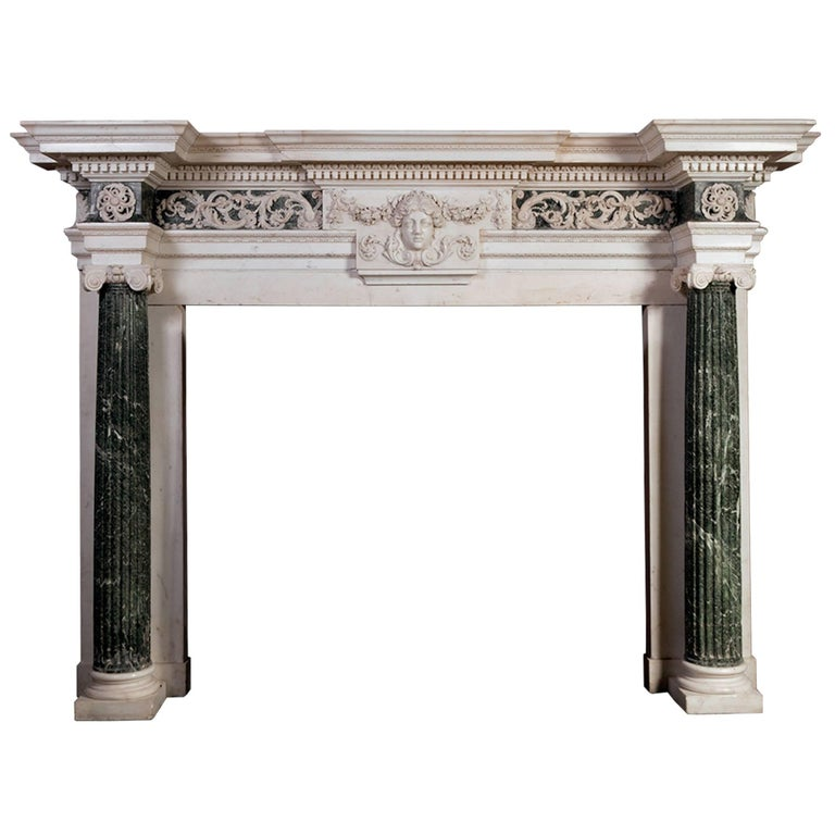 18th Century Marble Mantelpiece Designed by Isaac Ware For Sale