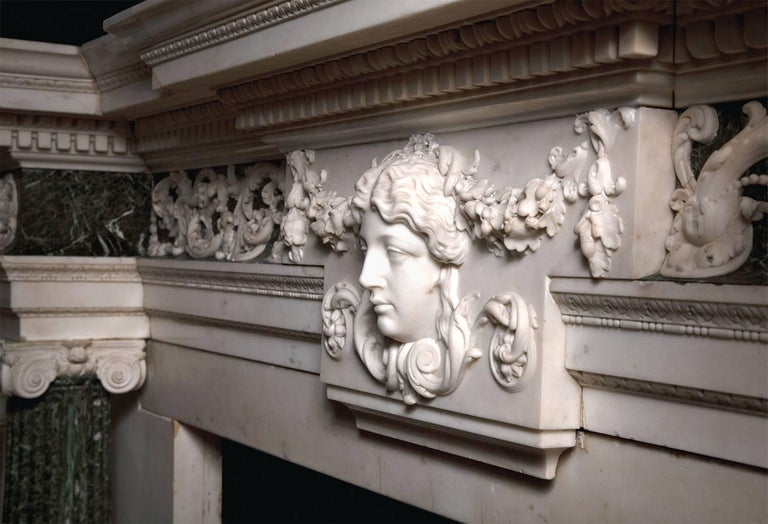 Palladian 18th Century Marble Mantelpiece Designed by Isaac Ware For Sale