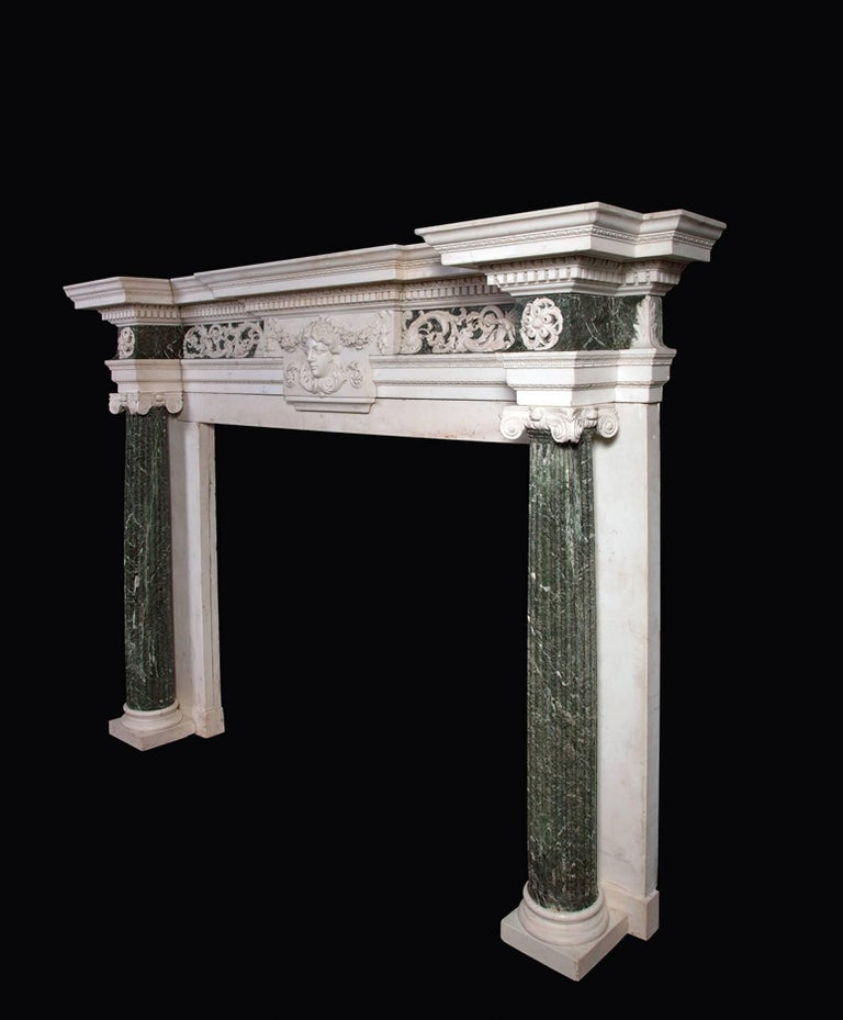 English 18th Century Marble Mantelpiece Designed by Isaac Ware For Sale