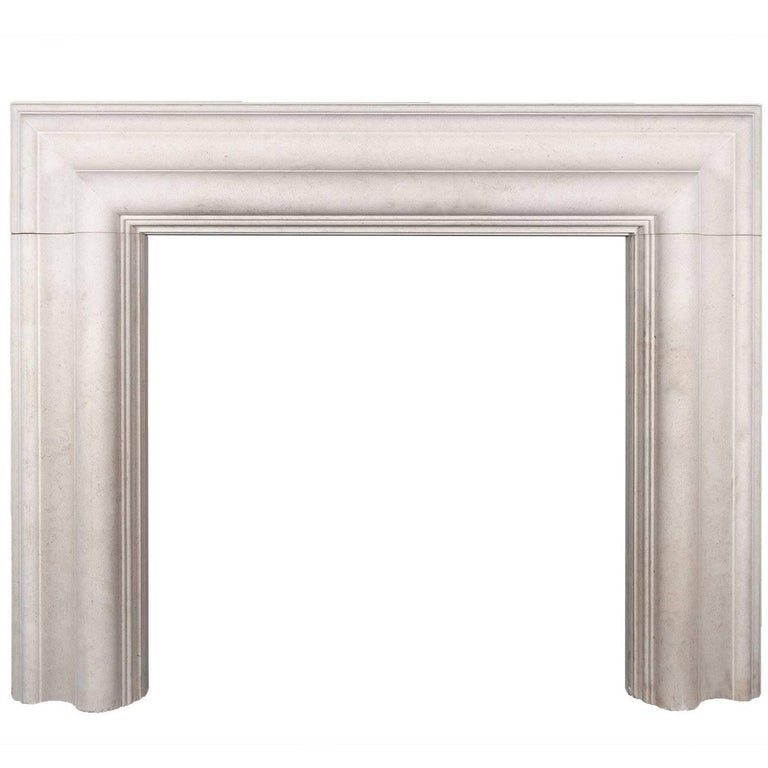 Ryan & Smith Large Stone Bolection Fireplace For Sale