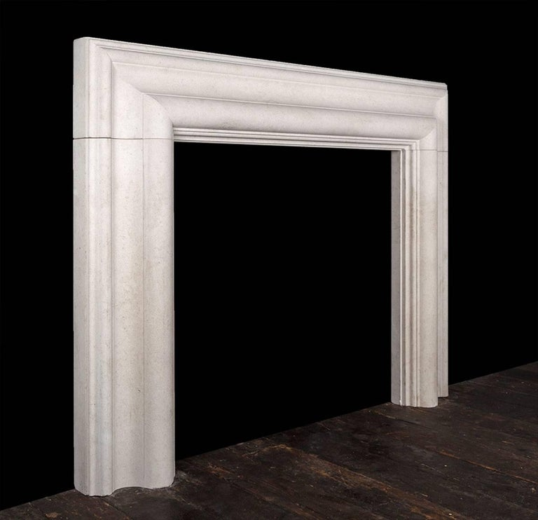 Baroque Ryan & Smith Large Stone Bolection Fireplace For Sale