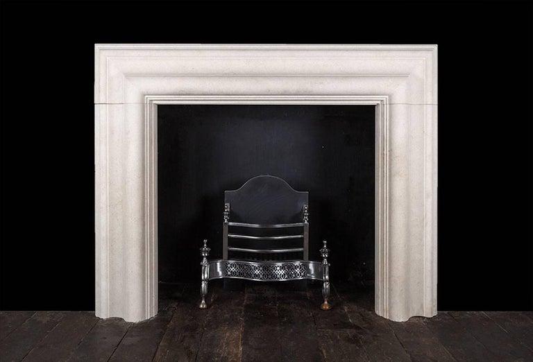Northern Irish Ryan & Smith Large Stone Bolection Fireplace For Sale
