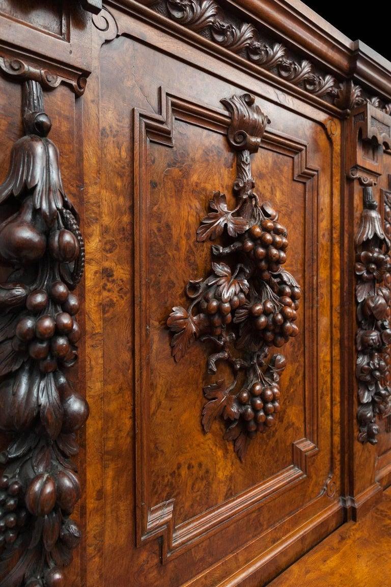 Renaissance Revival Large Antique Sideboard For Sale