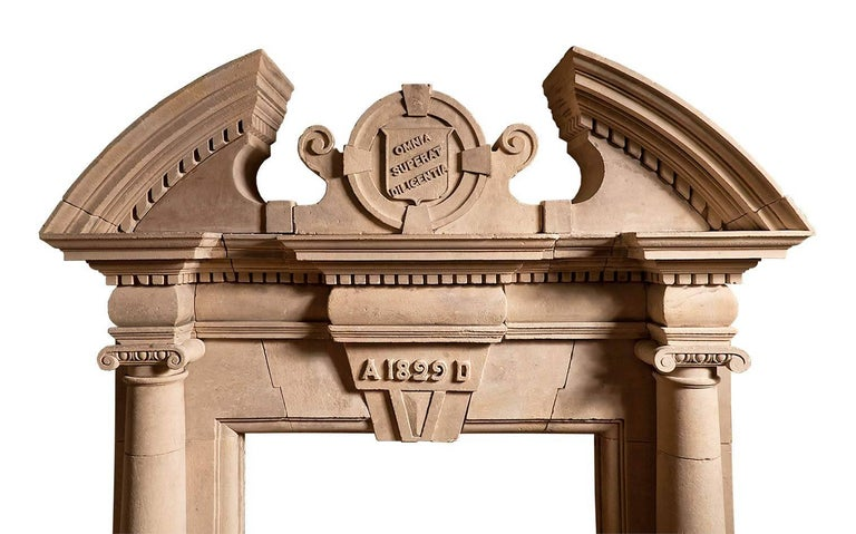 British English Coade Stone Antique Chimneypiece For Sale