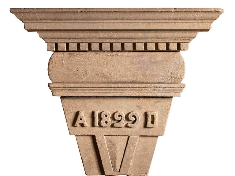 Carved English Coade Stone Antique Chimneypiece For Sale