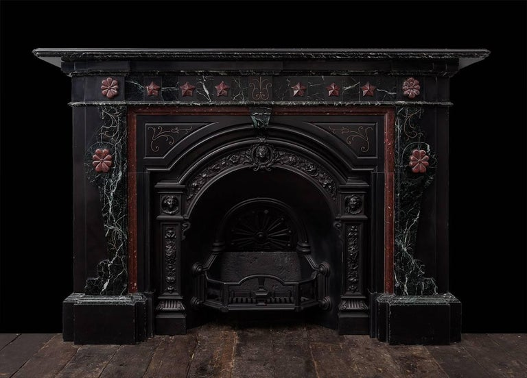 Victorian Marble Fireplace and Cast Iron Insert For Sale 2