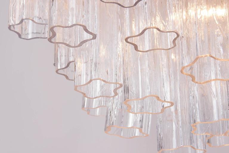 Venini Tronchi Glass Chandelier, Italy, 1960s For Sale 3