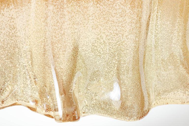 Barovier (attr.) Pendant Light, Amber Tone Murano Glass, 1960s 10