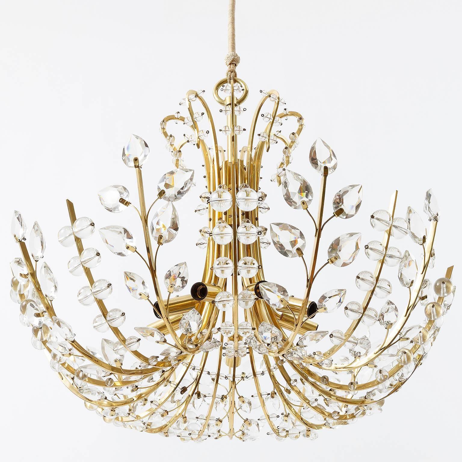 Lobmeyr chandelier ambassador oswald haerdtl brass glass lobmeyr chandelier ambassador oswald haerdtl brass glass austria 1955 for sale at 1stdibs aloadofball Image collections
