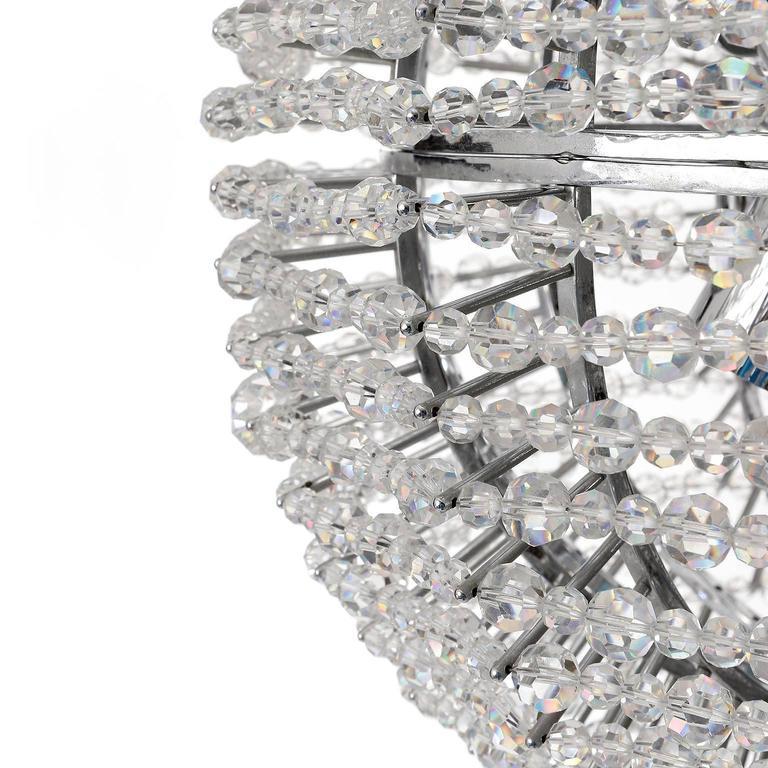Bakalowits Chandelier 'Supernova', Nickel Crystal Glass, 1960s For Sale 2