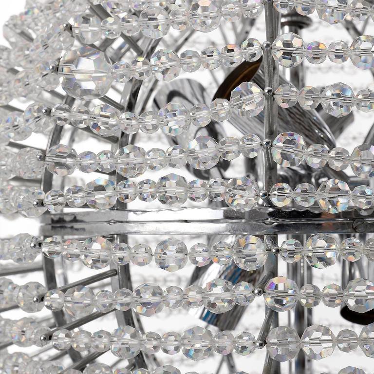 Bakalowits Chandelier 'Supernova', Nickel Crystal Glass, 1960s For Sale 1