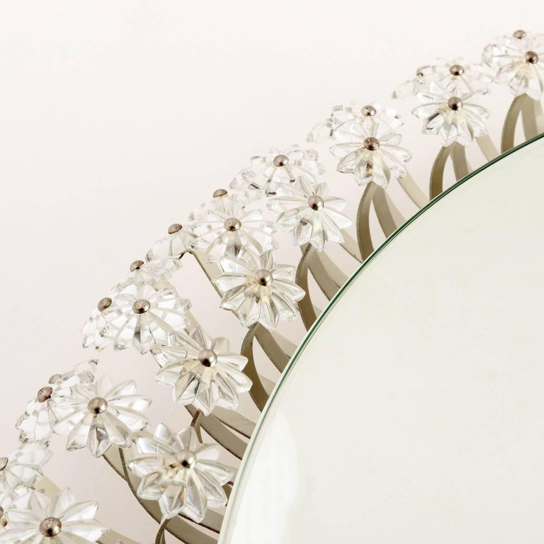 Mid-20th Century Two Large Emil Stejnar Backlit Mirrors for Rupert Nikoll, Austria, 1950s For Sale
