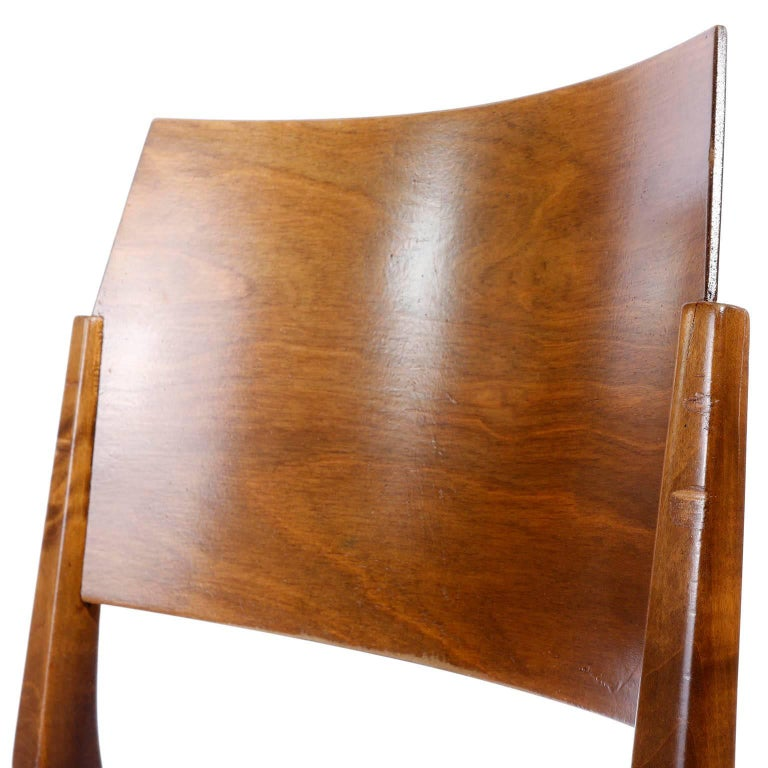 Mid-20th Century Pair of Stacking Chairs by Karl Schwanzer, Thonet, Austria, 1950s For Sale