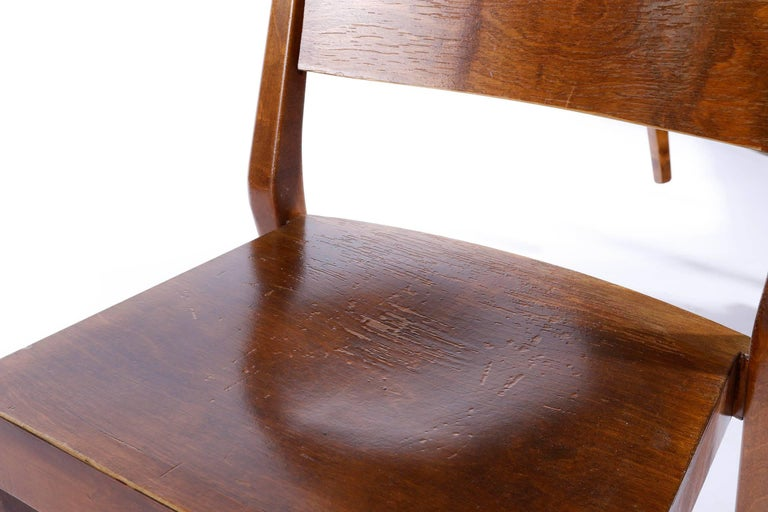 Beech Pair of Stacking Chairs by Karl Schwanzer, Thonet, Austria, 1950s For Sale