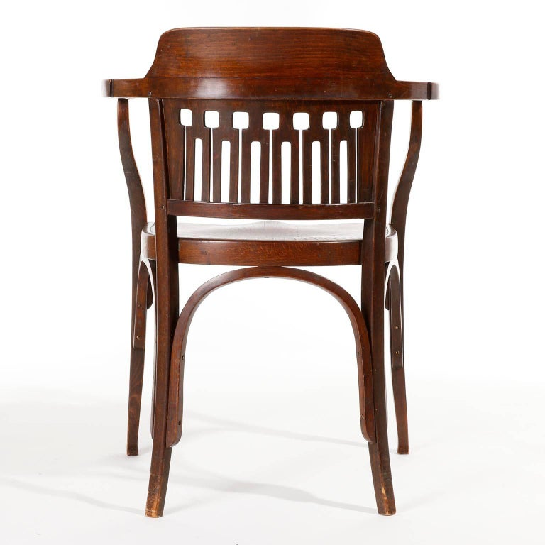 Early 20th Century Otto Wagner Chair Armchair by J.&J. Kohn, Austria, Vienna Secession, circa 1900 For Sale