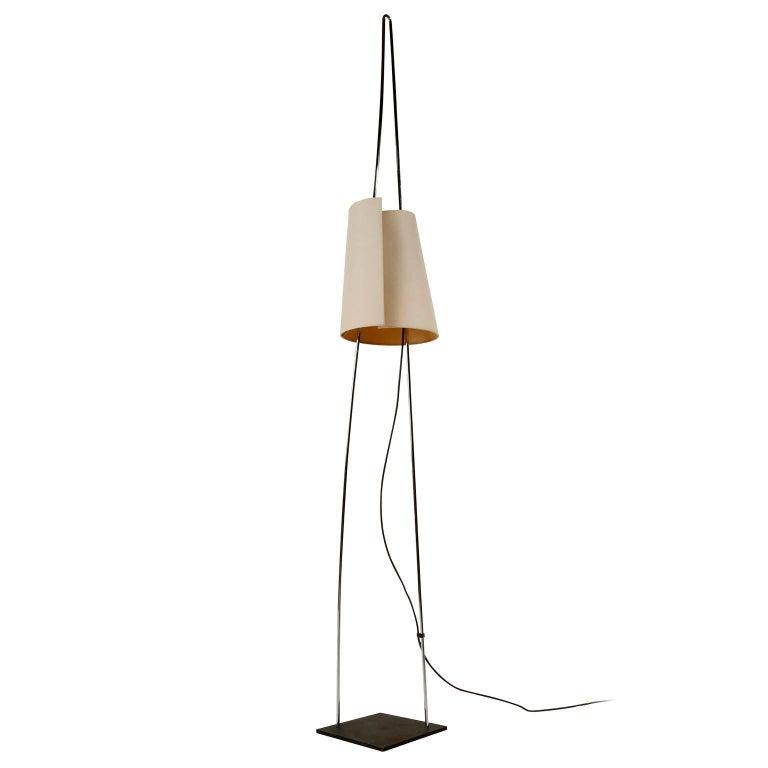 Floor Lamp by Italiana Luce, Height Adjustable Shade, Italy, 1970s