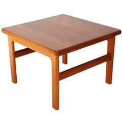 Nils Bach Teak Coffee Side Sofa Table, Denmark, 1960