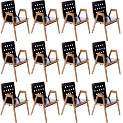 Roland Rainer, Set of 12 Armchairs Stacking Chairs, 1951