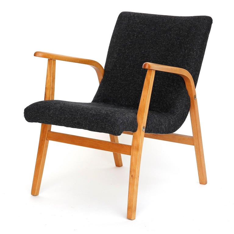 A midcentury lounge chair designed by Roland Rainer for the