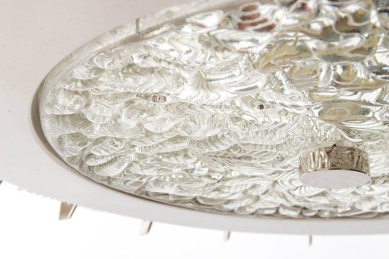 Three Chandeliers Pendant Lights by Rupert Nikoll, Glass Nickel, 1960 9