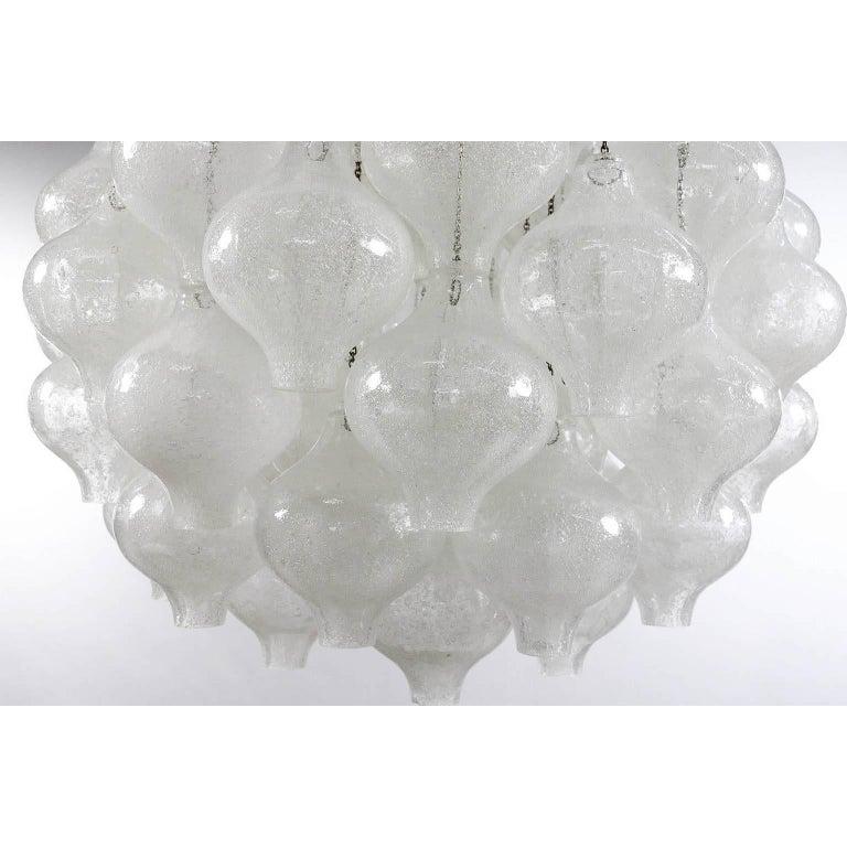 Kalmar 'Tulipan' Chandelier Pendant Light, Blown Glass, 1970, One of Three 9