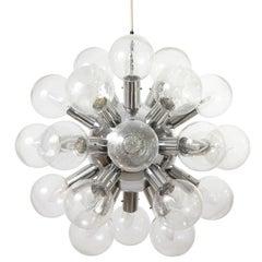 """1 von 5 Kalmar Sputnik Pendelleuchten Licht Kronleuchter """"Rs 27', Aluminium, Glas, 1970"""
