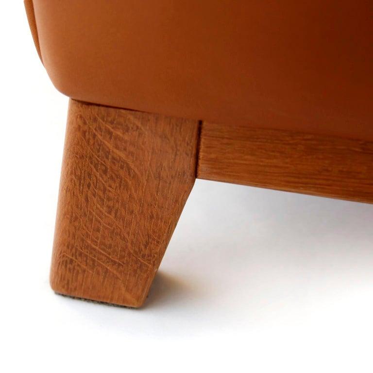 1 of 7 De Sede 'DS-14' Armchair Lounge Chair, Cognac Leather Teak, 1990s For Sale 2