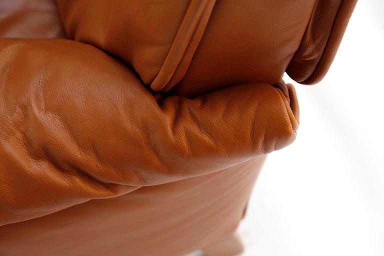 1 of 7 De Sede 'DS-14' Armchair Lounge Chair, Cognac Leather Teak, 1990s For Sale 4