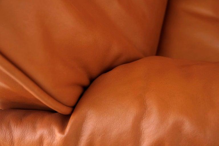 1 of 7 De Sede 'DS-14' Armchair Lounge Chair, Cognac Leather Teak, 1990s For Sale 5