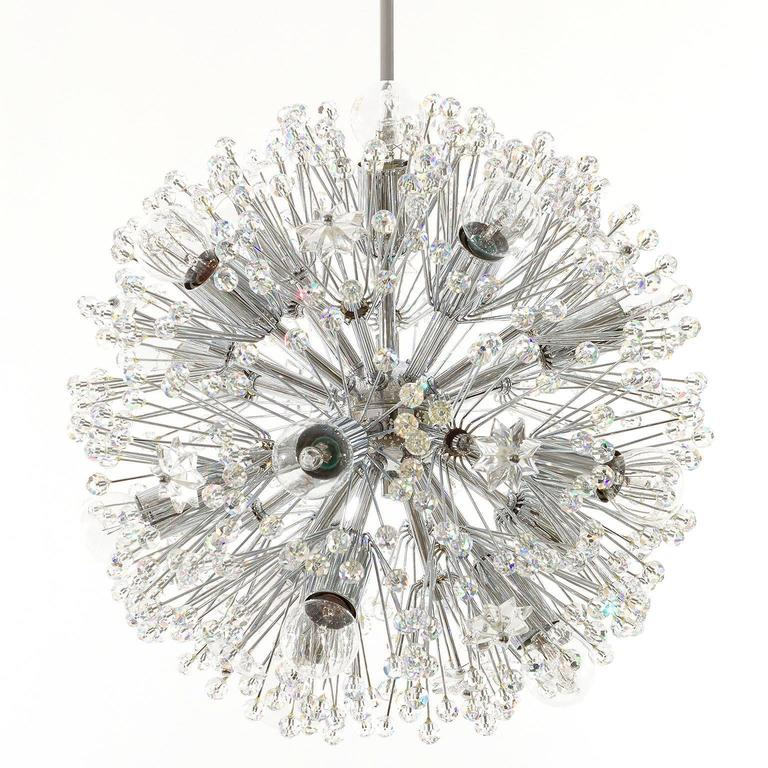 Emil stejnar sputnik chandelier crystal nickel chrome blowball emil stejnar sputnik chandelier crystal nickel chrome blowball austria 1960s 3 mozeypictures Gallery