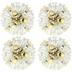 Emil Stejnar Sputnik Sconces or Flush Mount Lights, 1950s