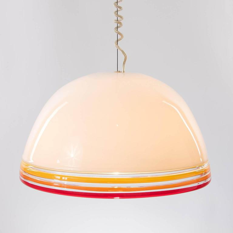 Late 20th Century Italian Pendant Light by Roberto Pamio and Renato Toso for Leucos, 1970s For Sale