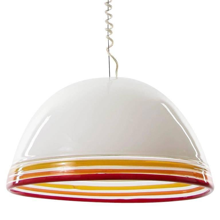 Italian Pendant Light by Roberto Pamio and Renato Toso for Leucos, 1970s For Sale