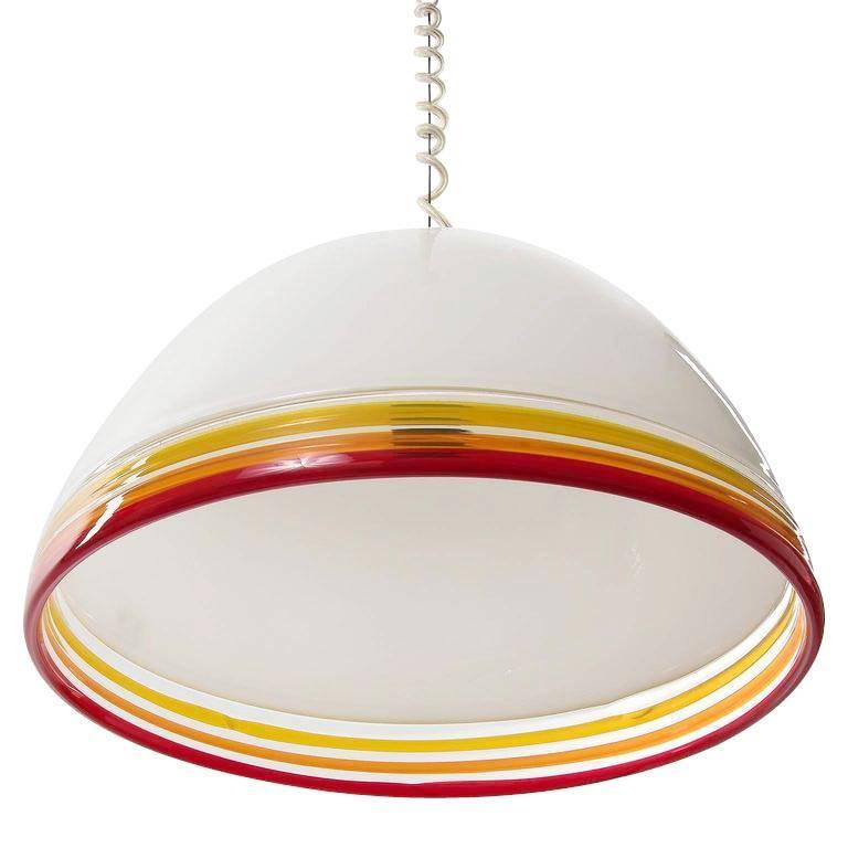Mid-Century Modern Italian Pendant Light by Roberto Pamio and Renato Toso for Leucos, 1970s For Sale