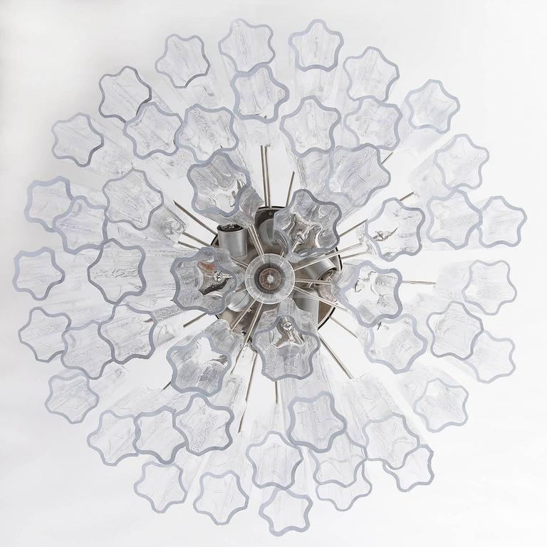 Venini Tronchi Glass Chandelier, Italy, 1960s In Excellent Condition For Sale In Graz, AT