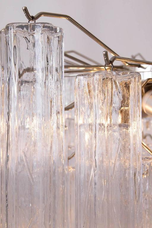 Venini Tronchi Glass Chandelier, Italy, 1960s For Sale 4