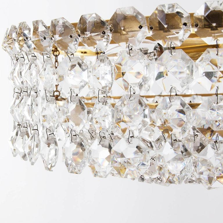 Bakalowits Chandelier, Crystal Glass and Gilt Brass, Austria, 1960s, 1 of 2 For Sale 3