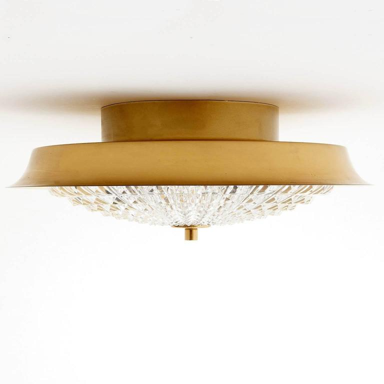 Flush Mount Light or Sconce by Carl Fagerlund for Orrefors, Sweden, 1960s 5