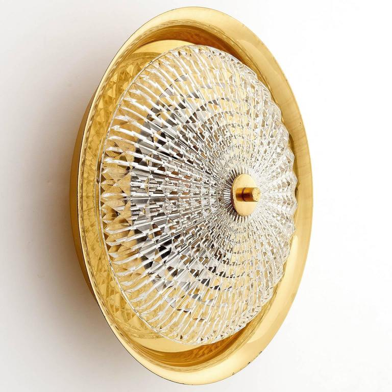 Mid-20th Century Flush Mount Light or Sconce by Carl Fagerlund for Orrefors, Sweden, 1960s For Sale