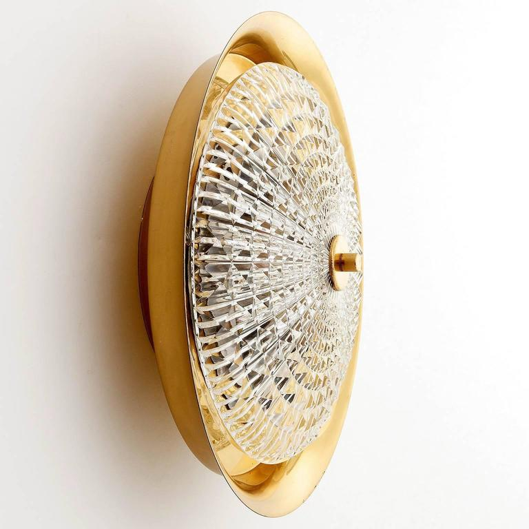 Flush Mount Light or Sconce by Carl Fagerlund for Orrefors, Sweden, 1960s 7