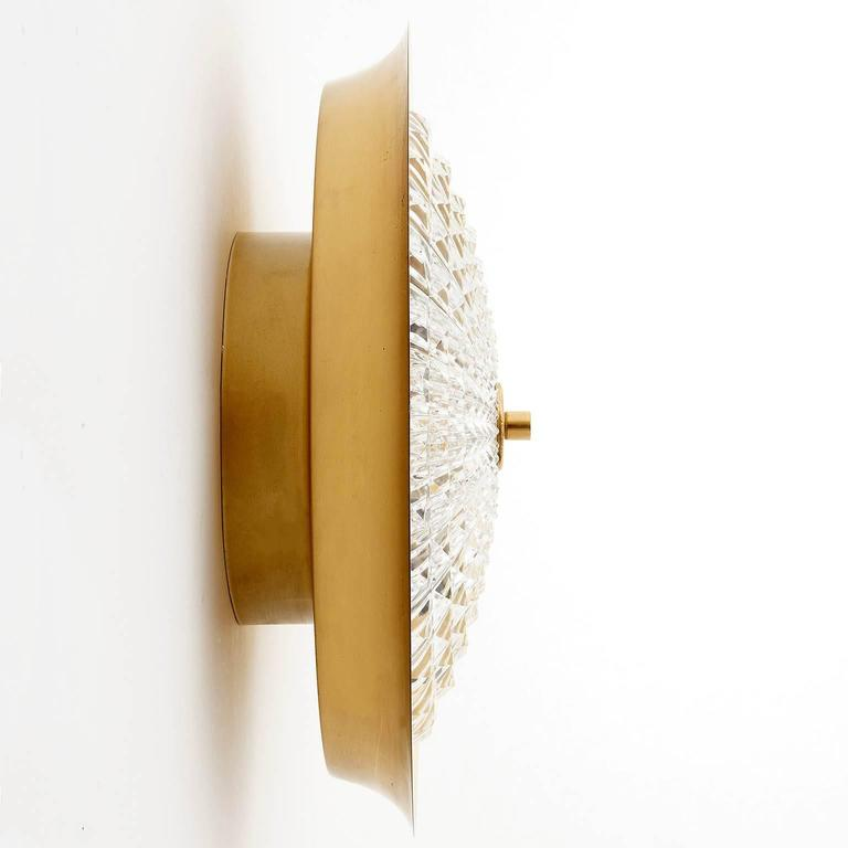 Flush Mount Light or Sconce by Carl Fagerlund for Orrefors, Sweden, 1960s For Sale 1